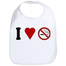 I Love No Smoking Bib