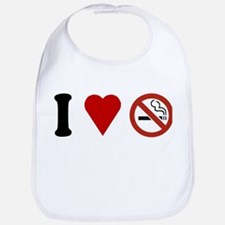 I Love No Smoking Bib