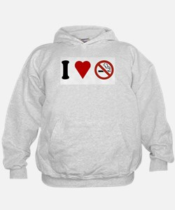 I Love No Smoking Hoodie