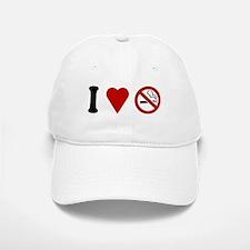 I Love No Smoking Baseball Baseball Cap
