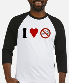 I Love No Smoking Baseball Jersey