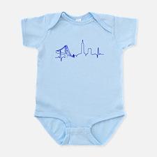 San Francisco Heartbeat BLUE Body Suit