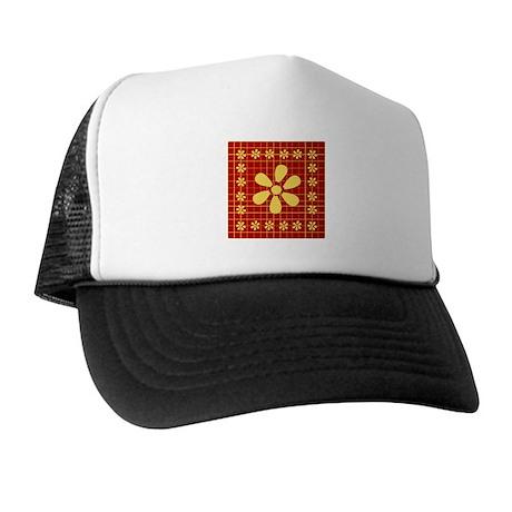 Rangoli Saree Print - Red Trucker Hat