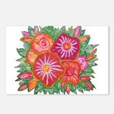 Orange Fantasy Flowers Postcards (Package of 8)