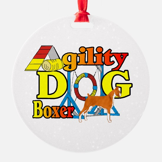 Boxer Agility Dog Ornament