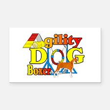 Boxer Agility Dog Rectangle Car Magnet