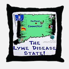 CT-Lyme! Throw Pillow