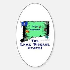 CT-Lyme! Oval Decal