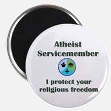 """Atheist Servicemember 2.25"""" Magnet (10 pack)"""