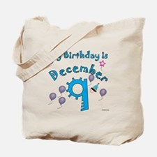 December 9th Birthday Tote Bag