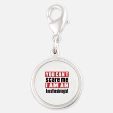 I Am Anesthesiologist Silver Round Charm