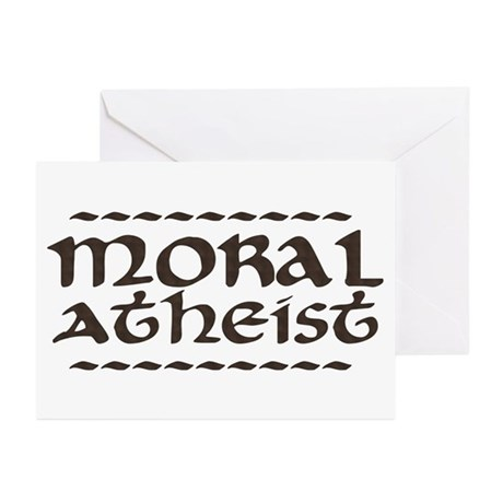 Moral Atheist Greeting Cards (Pk of 10)