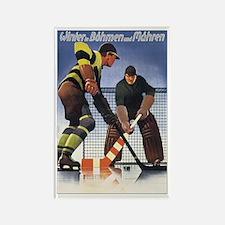 Vintage Czech Hockey Rectangle Magnet