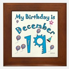 December 19th Birthday Framed Tile