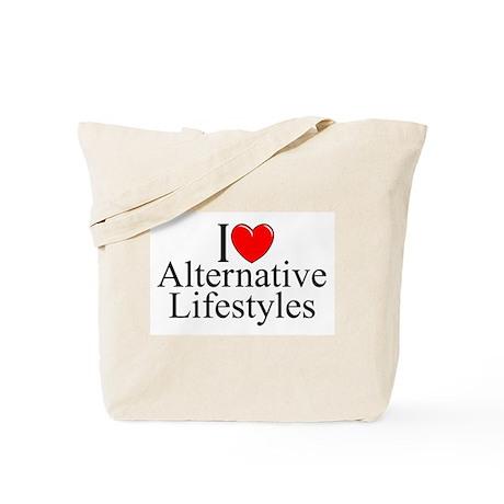 """I Love (Heart) Alternative Lifestyles"" Tote Bag"