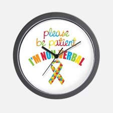 Non-Verbal Autistic Wall Clock