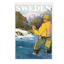 Vintage Sweden Fishing Postcards (Package of 8)
