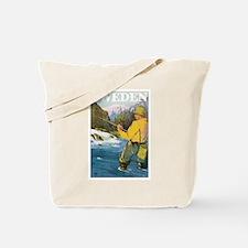 Vintage Sweden Fishing Tote Bag