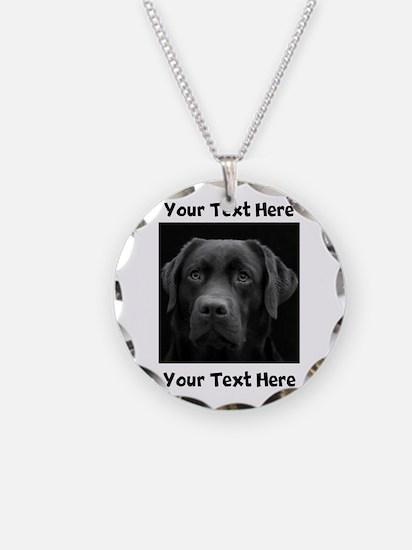 Dog Labrador Retriever Necklace Circle Charm
