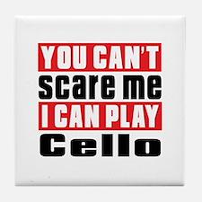 I Can Play Cello Tile Coaster