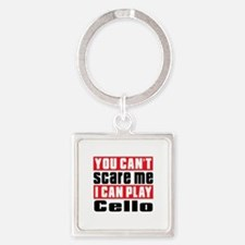 I Can Play Cello Square Keychain