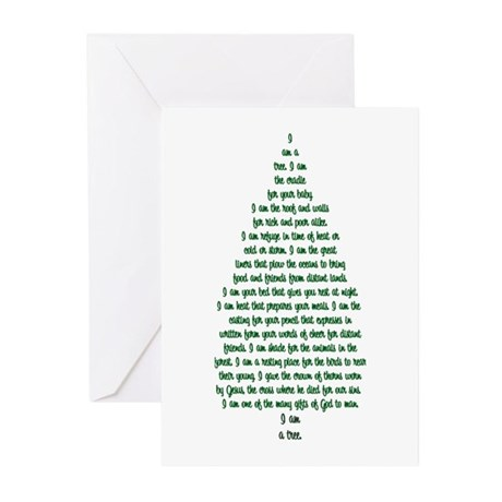 """""""I Am A Tree"""" Greeting Cards (Pk of 10)"""
