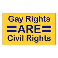 Gay Rights Rectangle Decal
