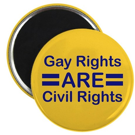 """Gay Rights 2.25"""" Magnet (10 pack)"""