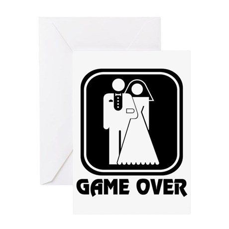 Wedding Icon: Game Over Greeting Card