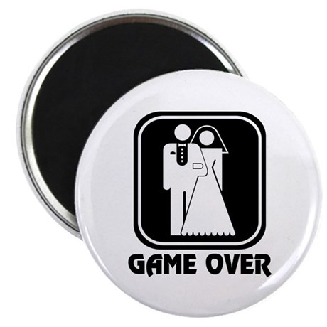 """Wedding Icon: Game Over 2.25"""" Magnet (10 pack)"""