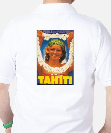 Vintage Tahiti Girl Golf Shirt