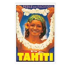 Vintage Tahiti Girl Postcards (Package of 8)