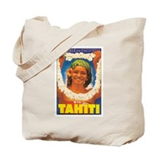 Vintage Tahiti Girl Tote Bag