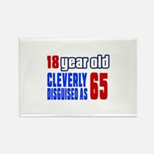 Cleverly Disguised As 65 Birthday Rectangle Magnet