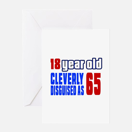 Cleverly Disguised As 65 Birthday Greeting Card