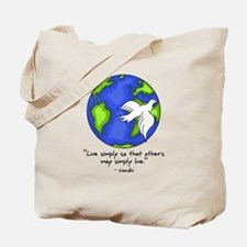 World Gandhi - Live Simply Tote Bag