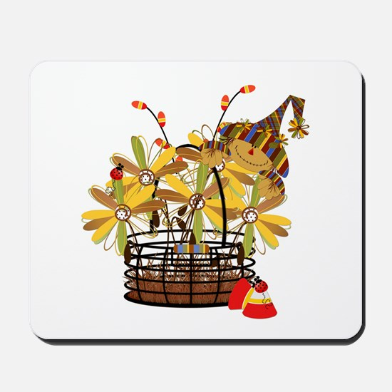 Scarecrow Fall Fowers Mousepad