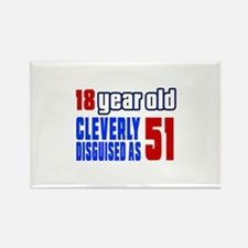 Cleverly Disguised As 51 Birthday Rectangle Magnet