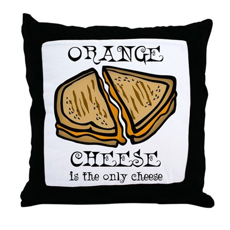 Orange Cheese Throw Pillow