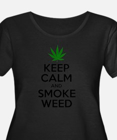 Keep Calm And Smoke Weed Plus Size T-Shirt
