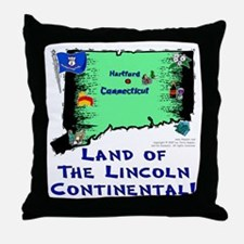 CT-Lincoln! Throw Pillow