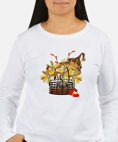 Scarecrow Fall Fowers T-Shirt