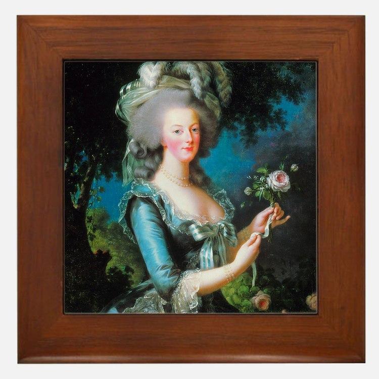 Vigée-Lebrun - Marie-Antoinette Framed Tile