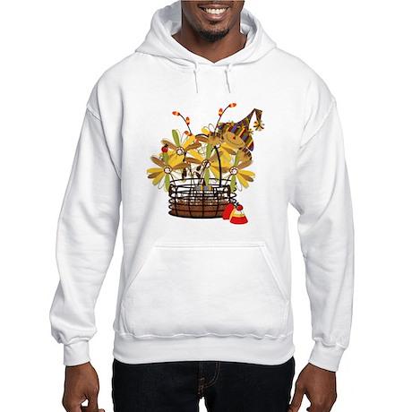 Scarecrow Fall Fowers Hooded Sweatshirt