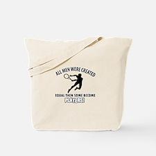 Tennis Players Designs Tote Bag