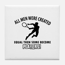 Tennis Players Designs Tile Coaster