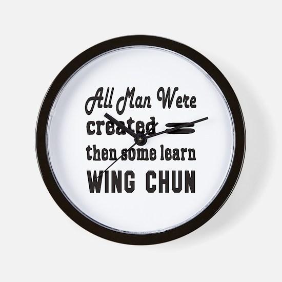 Some Learn Wing Chun Wall Clock