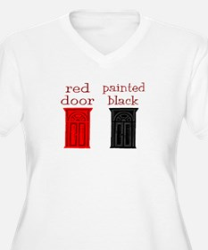 red door painted black T-Shirt
