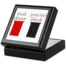 red door painted black Keepsake Box