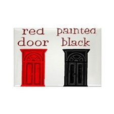 red door painted black Rectangle Magnet